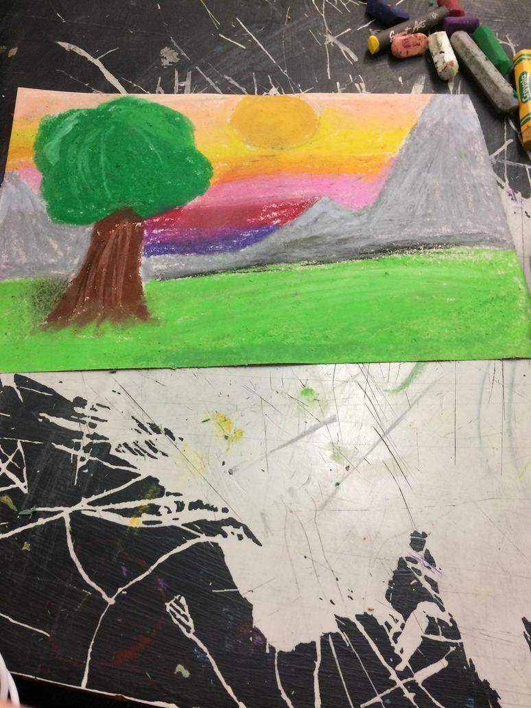 Oil pastel crap by fnaflovver