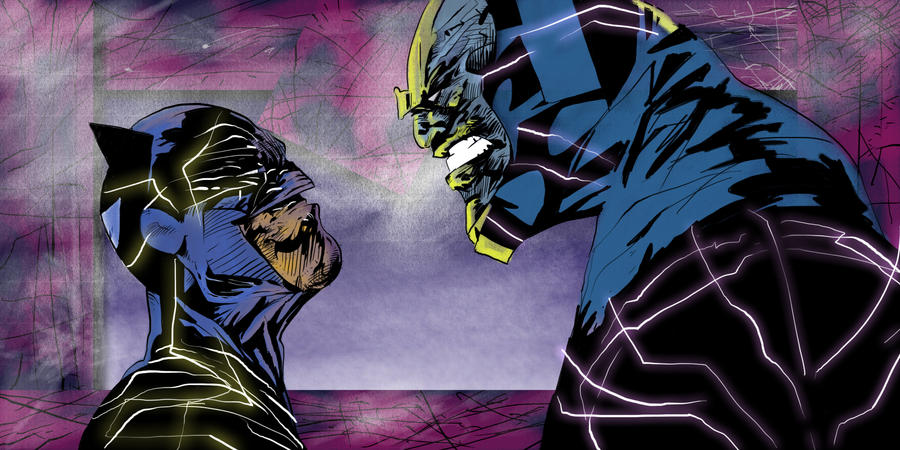 Batman vs Darkseid by JohnyBlazzze