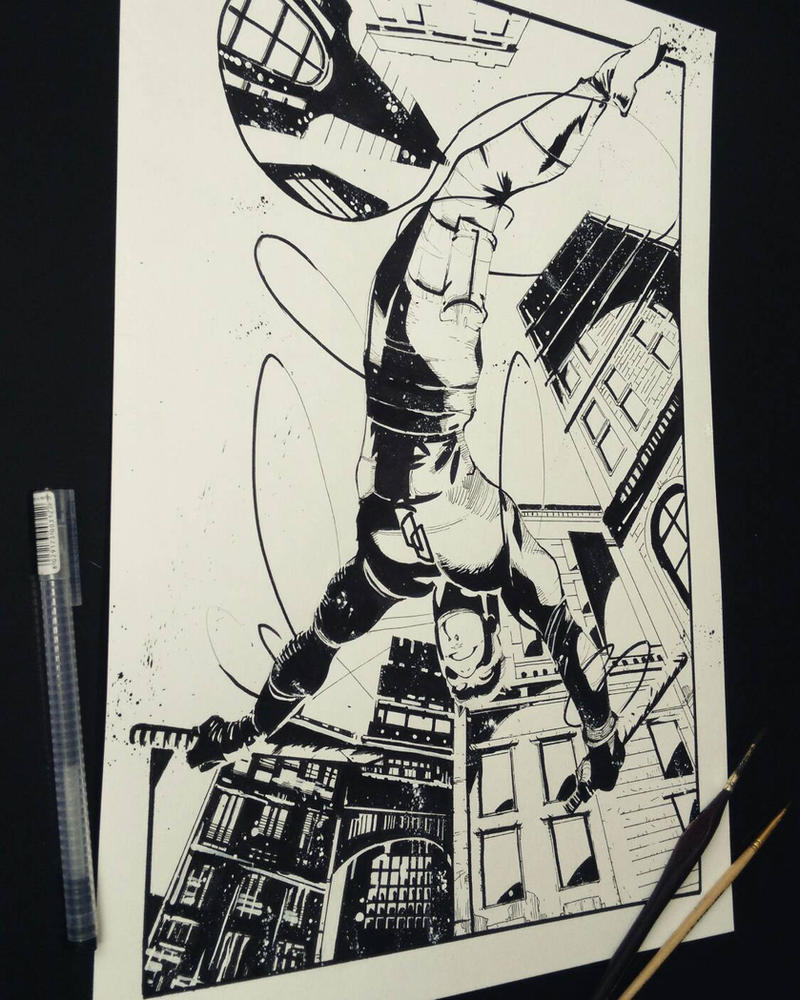 Daredevil commission by JohnyBlazzze