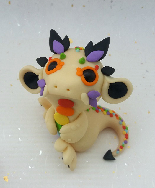 Speckled Rainbow Dragon by Critterkins
