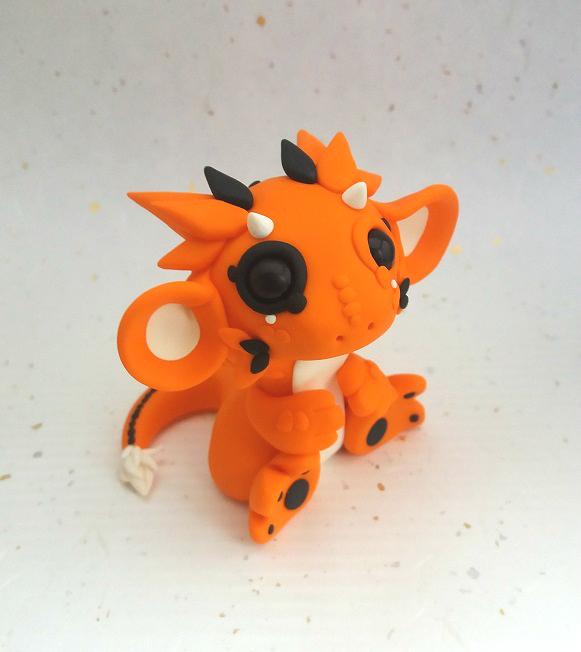 Black-Eyed Orange Dragon by Critterkins