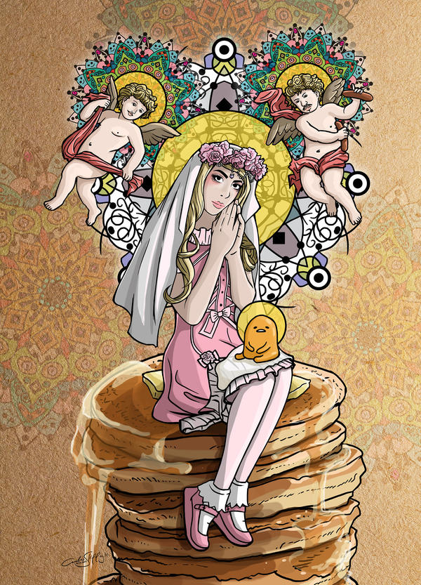 Our Lady of Pancakes by Jiggsokeken