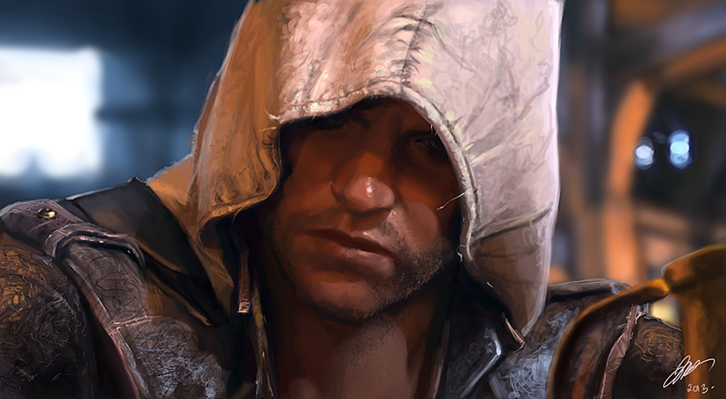 Edward Kenway -  digital painting by jodeee