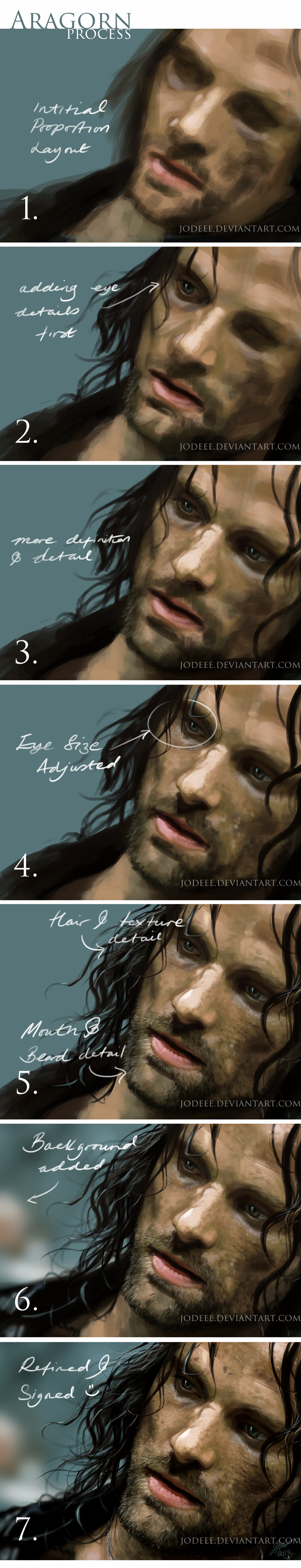 Aragorn painting progress by jodeee