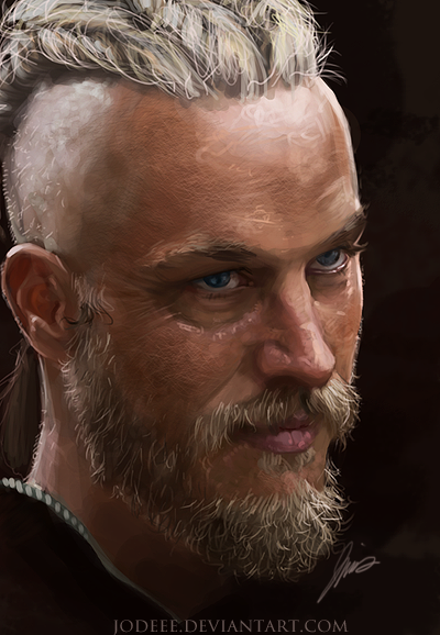 RAGNAR LOTHBROK - Speed Painting by jodeee