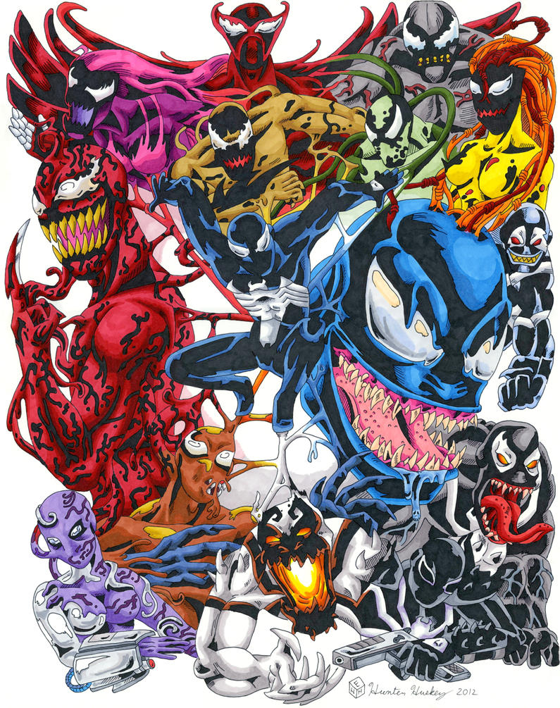 Humor - Page 5 Symbiote_collage__color__by_huntedcomics-d5263ed