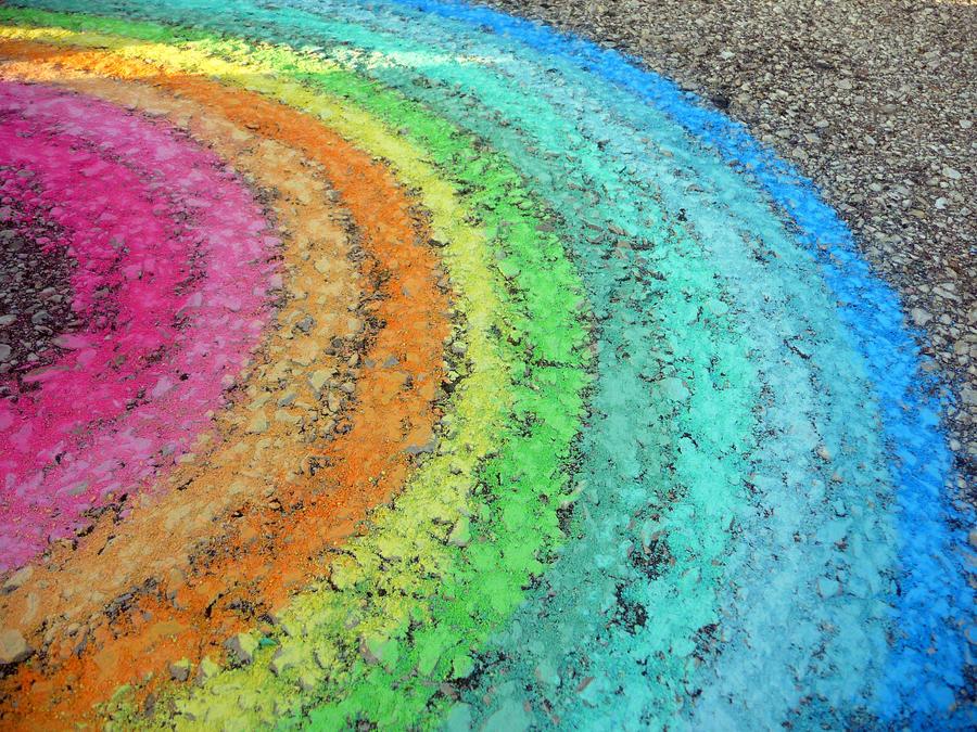 Rainbow_Chalk_Asphalt Texture