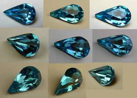 Blue Teardrop Gem Stock by Melyssah6-Stock