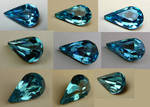 Blue Teardrop Gem Stock
