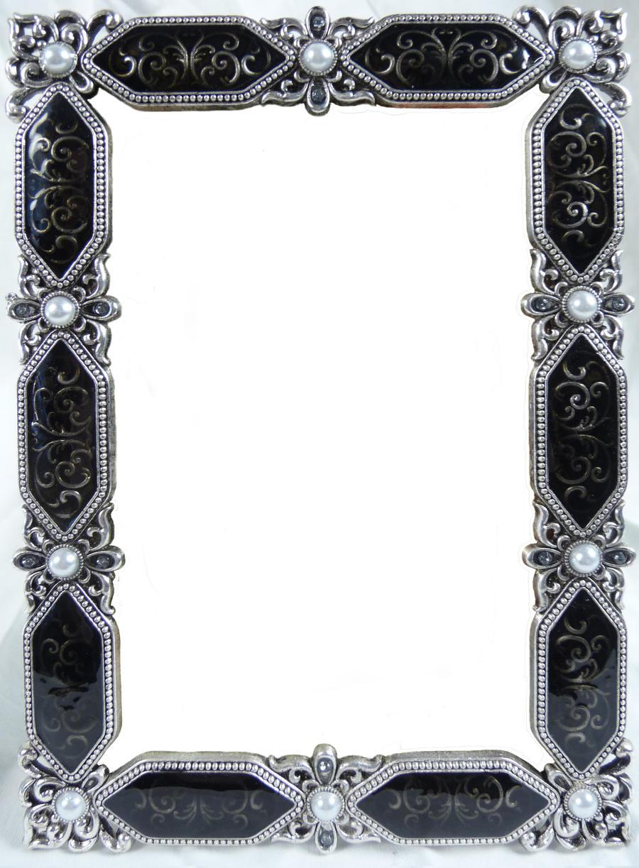 Ornate Silver Frame - Wide Oval by EveyD on DeviantArt