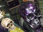 Metallic Purple Skull Stock