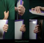 Hand Pose Stock - Gripping - Ledge/Shirt