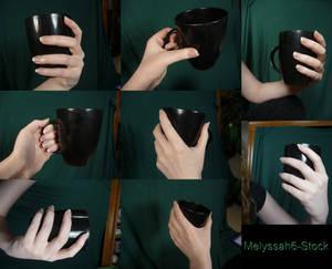 Hand Pose Stock - Holding Mug