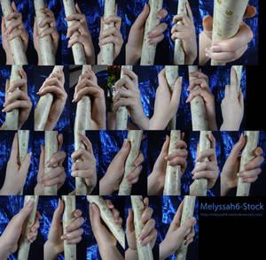 Hand Pose Stock - Wielding Staff - Loose Grasp
