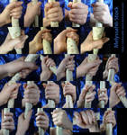 Hand Pose Stock - Wielding Staff - Firm Grasp