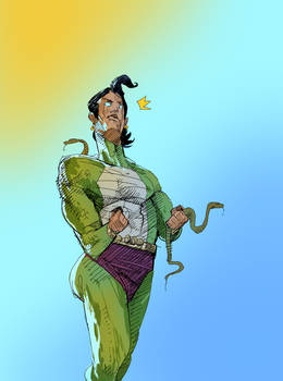 the best green clad indian snake themed superhero