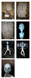 Megamind Doll progress photos by akuma-neko