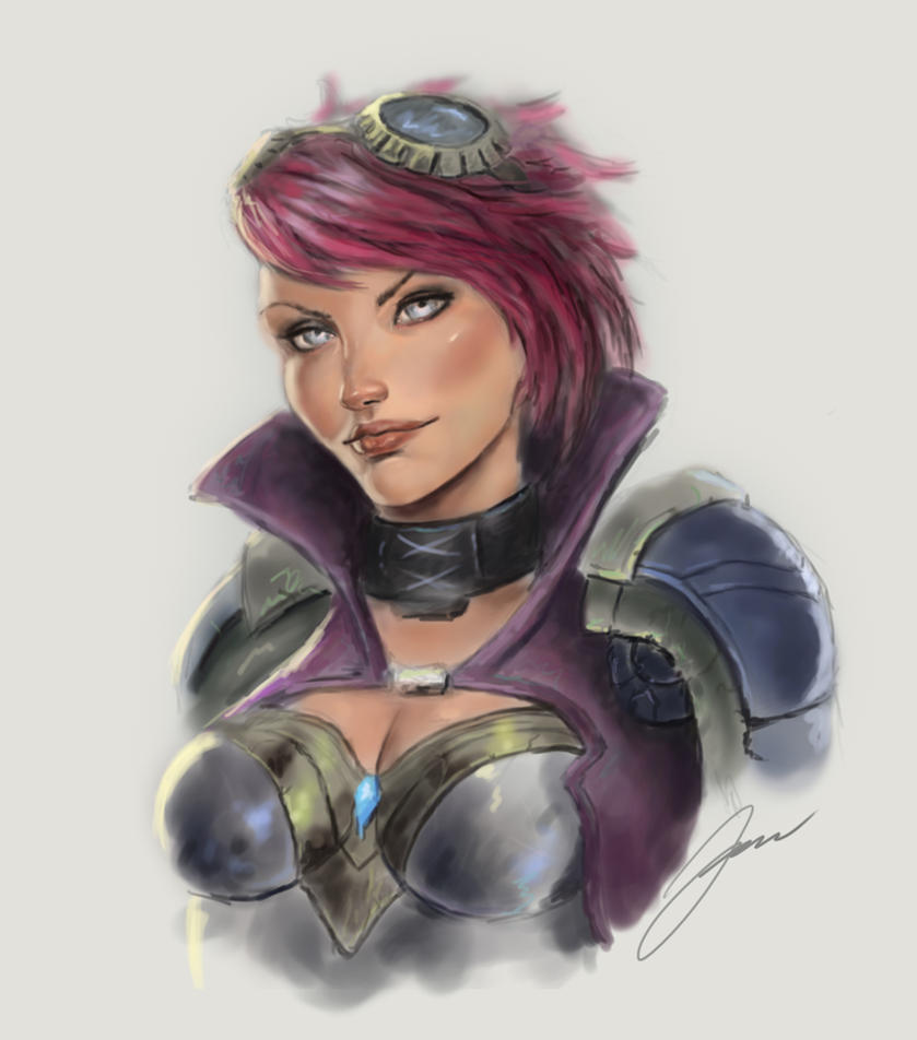 Vi, the Piltover Enforcer by Yaztory