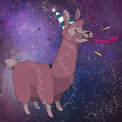 Space Llama by TheJoyfulAmbush
