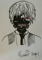 kaneki (tokyo ghoul) by ikafox