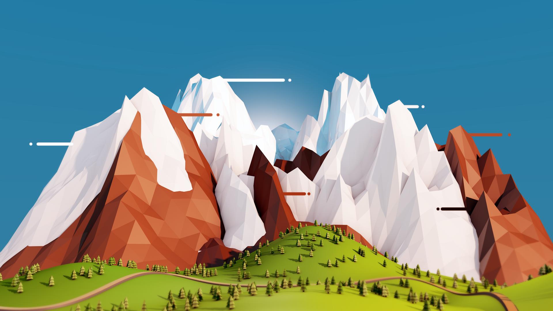Low poly mountains cinema 4d by joeljohnston on deviantart