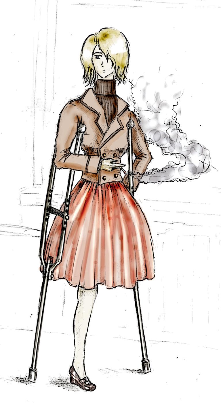 The smoking girl by hielga
