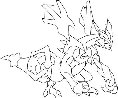 Black Kyurem LineArt By Moon7781
