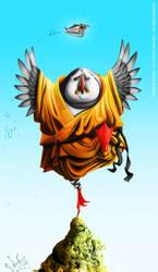 Shaolin puffin by MarekDolata