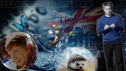 Martin Freeman in blue