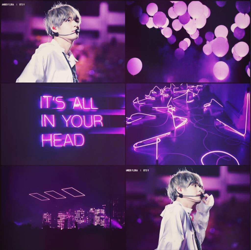 Bts V Neon Purple Aesthetic By Beaxh Bxtch On Deviantart