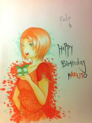 Happy Birthday Naruto by k-uroopuchi