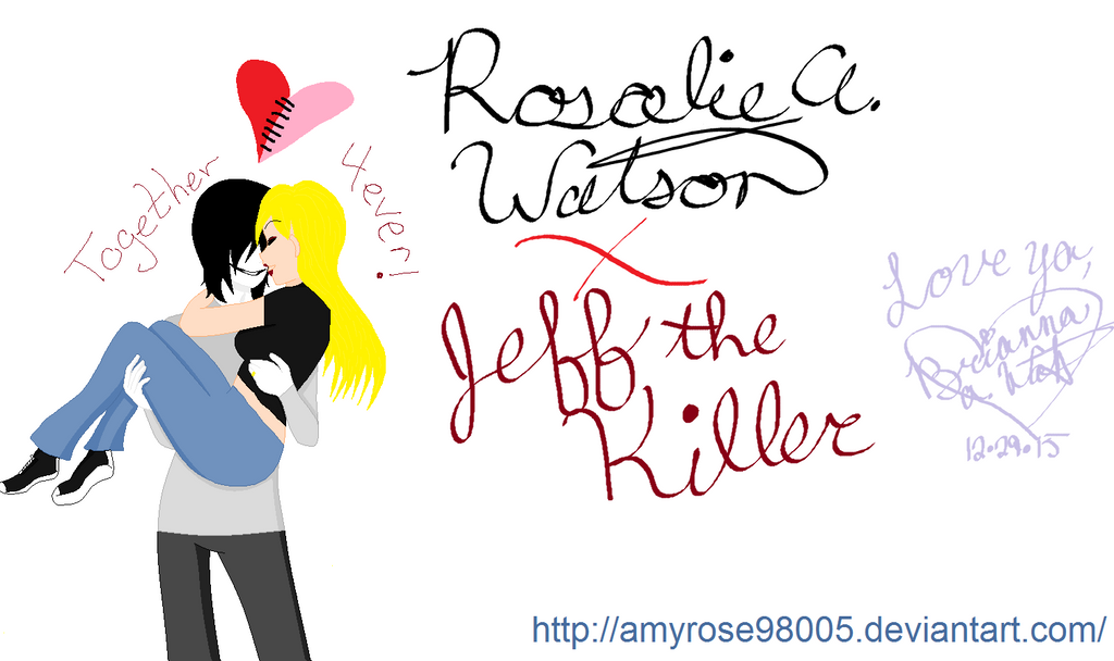 Rosalie Rose And Jeff The Killer AFTER HONEYMOON By Amyrose98005