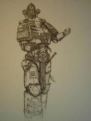 Space Marine Chaplain by WandelnderFlohsack