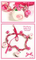 Strawberry Log Bracelet by Tonya-TJPhotography