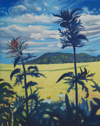 Landscape with nettles