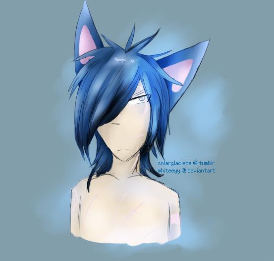 Blue's new hairstyle - PokeOCs by Whiteeyy