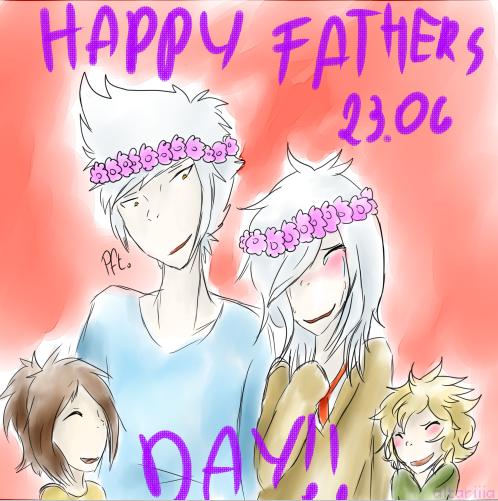 Happy (Late) Fathers Day! - OCs by florek-kun