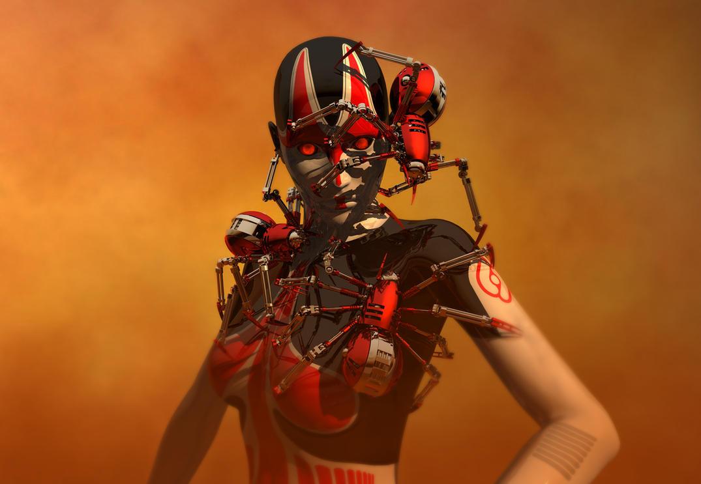 Infected Cyborg by DarkGeometryArt