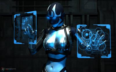 Cyborg computing by DarkGeometryArt