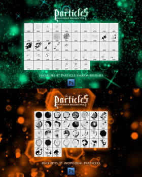 Particle photoshop brushes