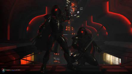 Ninjas by DarkGeometryArt