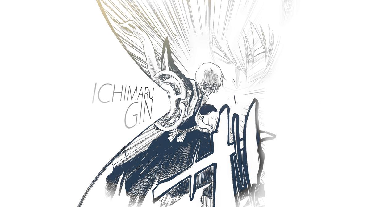 Ichimaru Gin Wallpaper (Bleach) by PT-Desu