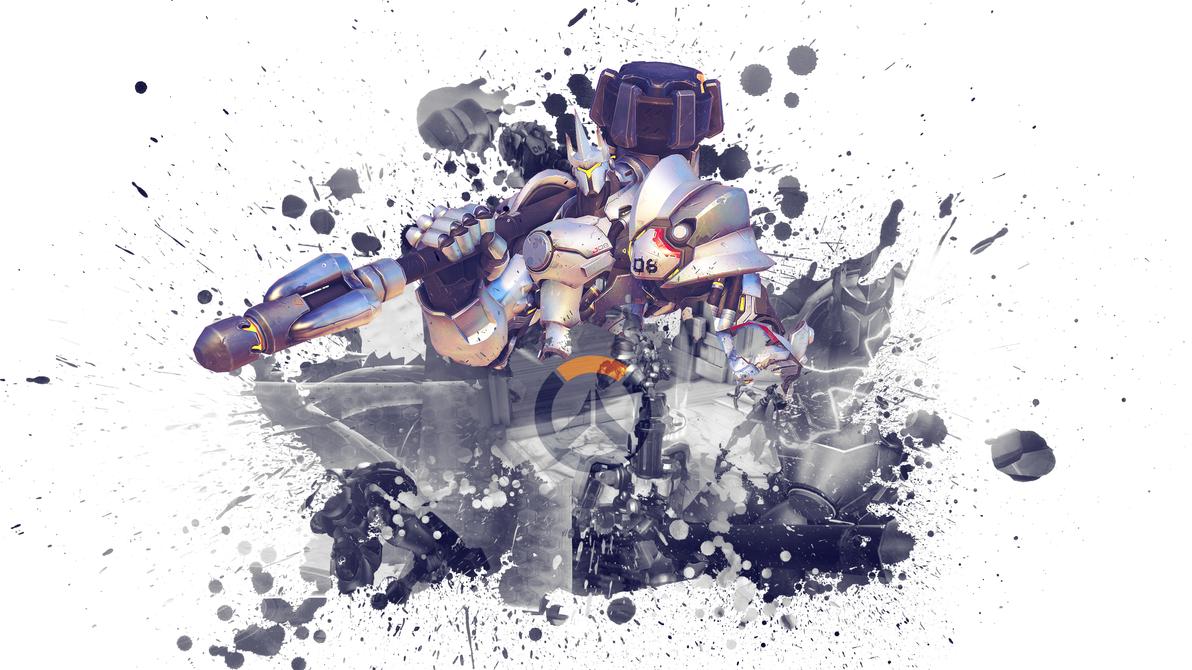 Overwatch Splat Wallpaper - Reinhardt by PT-Desu