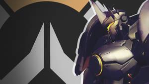 Overwatch Side Profile Wallpaper - Reinhardt by PT-Desu