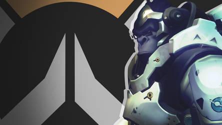 Overwatch Side Profile Wallpaper -  Winston