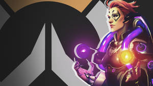 Overwatch Side Profile Wallpaper - Moira by PT-Desu