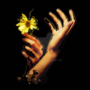flower hold in hands