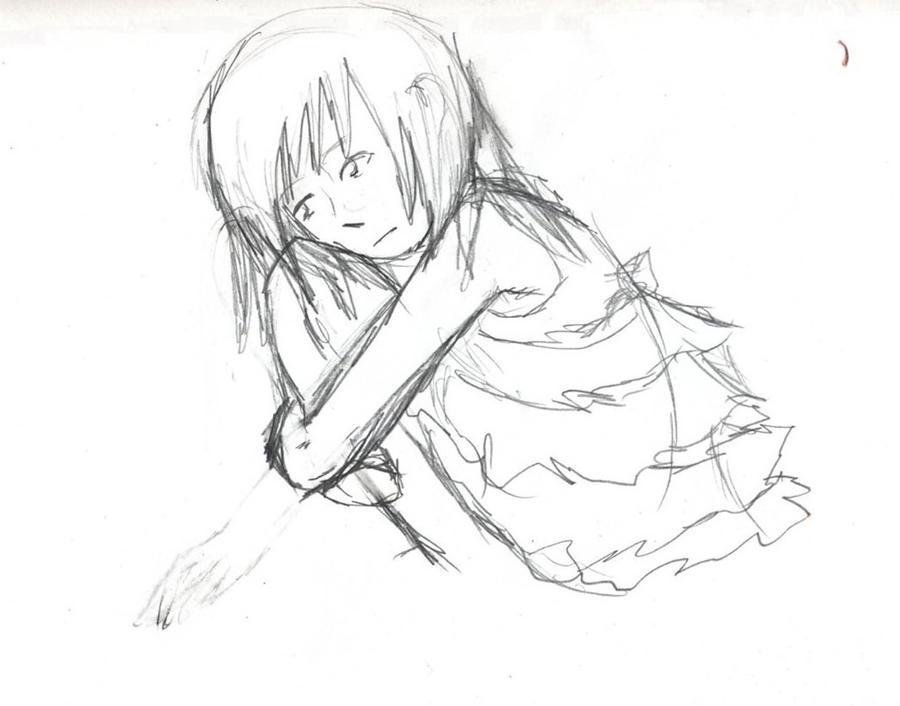 Hugging Knees Drawing Iucn Water