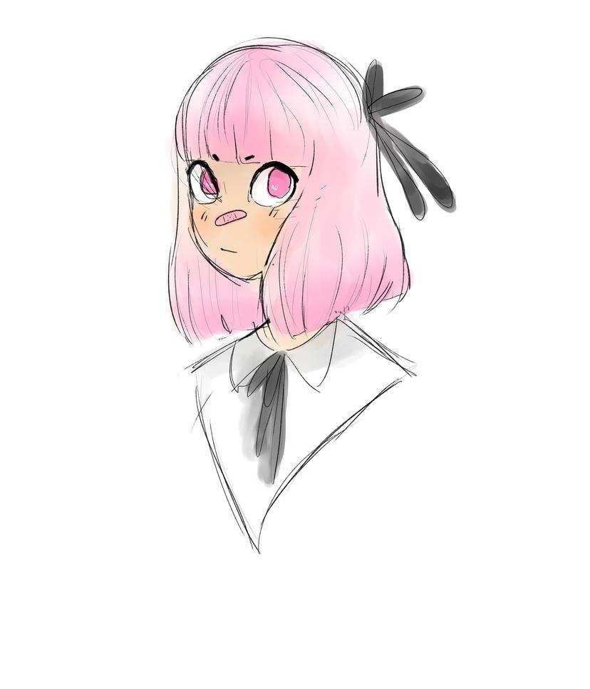 Pink Girl by Simonne-Alone