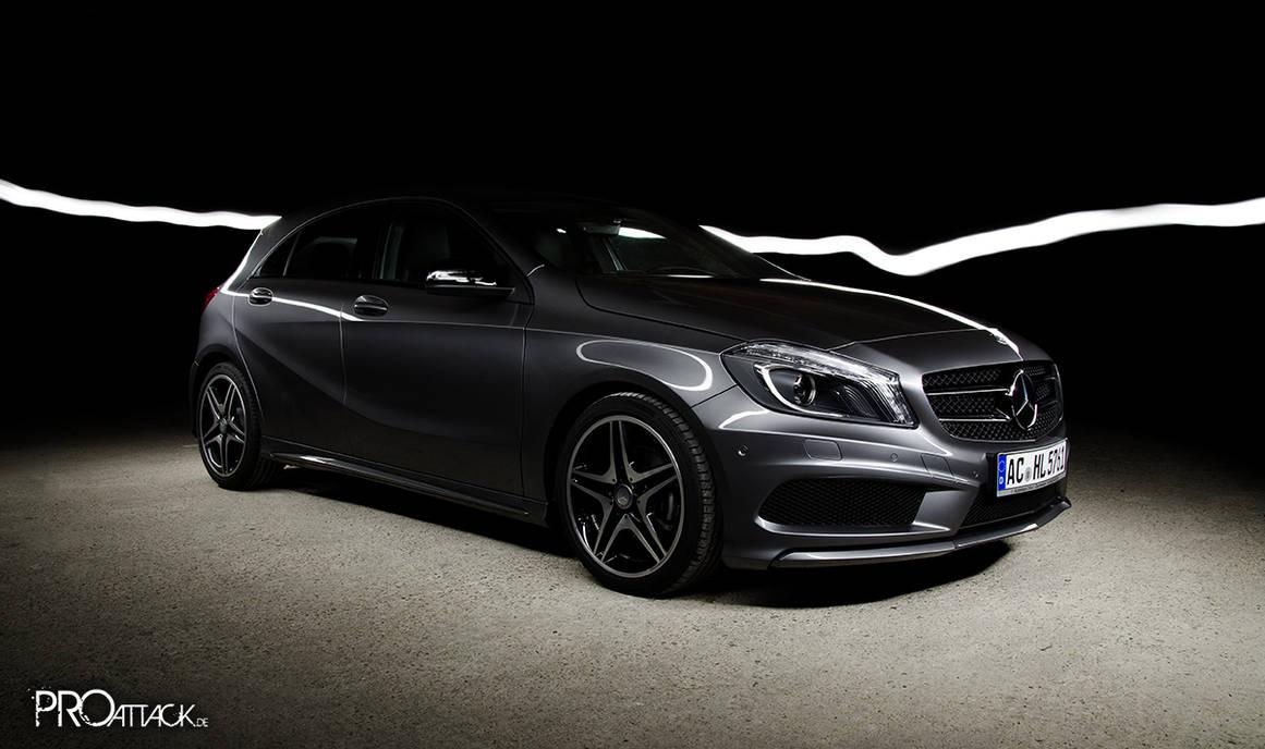 Mercedes A-Class in the light